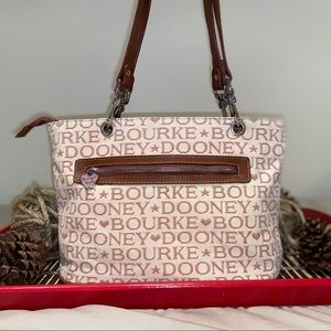 Vintage Embroidery Dooney and Bourke Tote Purse